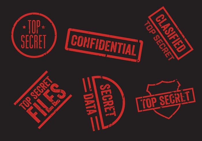 top-secret-stamp-vector-set
