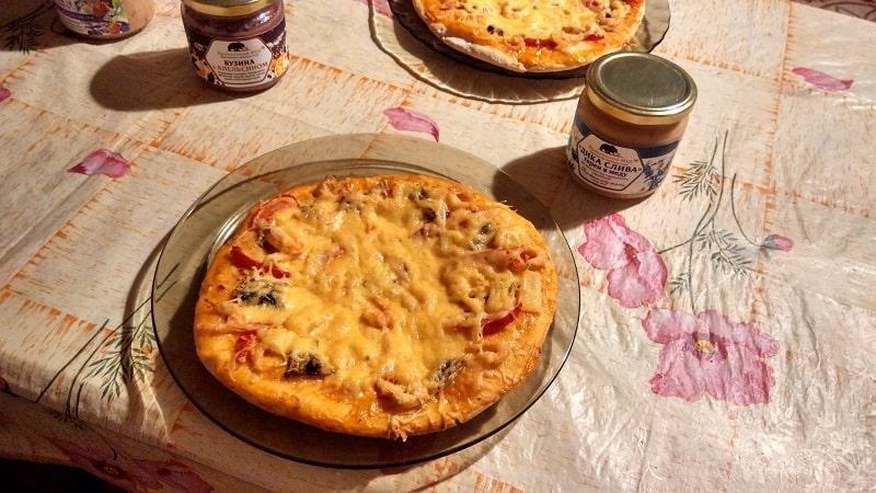 Day 117. Медовая пицца с креветками
