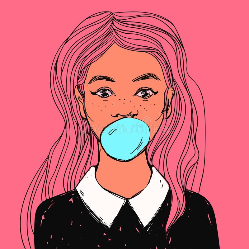 beautiful-girl-bubble-gum